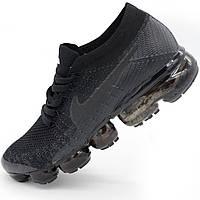 Мужские и женские кроссовки для бега Найк Nike Air VaporMax черные. - Реплика р.(37, 38, 39, 40, 41, 43)