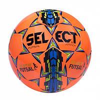 Мяч футзальный №4 SELECT FUTSAL ATTACK(OR) (оранжевый-синий-желтый) (реплика)