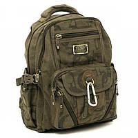 Детский рюкзак с карабином GoldBe арт. B259Khaki