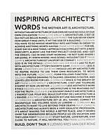 Постер Inspiring Architect's Words