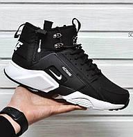 Мужские утепленные кроссовки Nike Huarache Acronym Concept Black/White, найк хуарачи