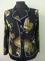 Стильный женский пиджак-блуза  больших размеров