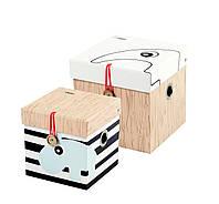 Коробка для хранения с крышкой Done by deer 2 шт.маленькие
