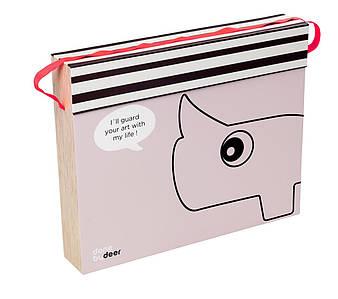 Папка для рисунков Contour розовая