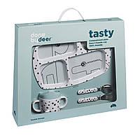 Посуда детская в наборе Точек Tasty синие
