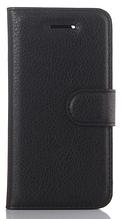 Кожаный чехол-книжка для Doogee BL7000 черный