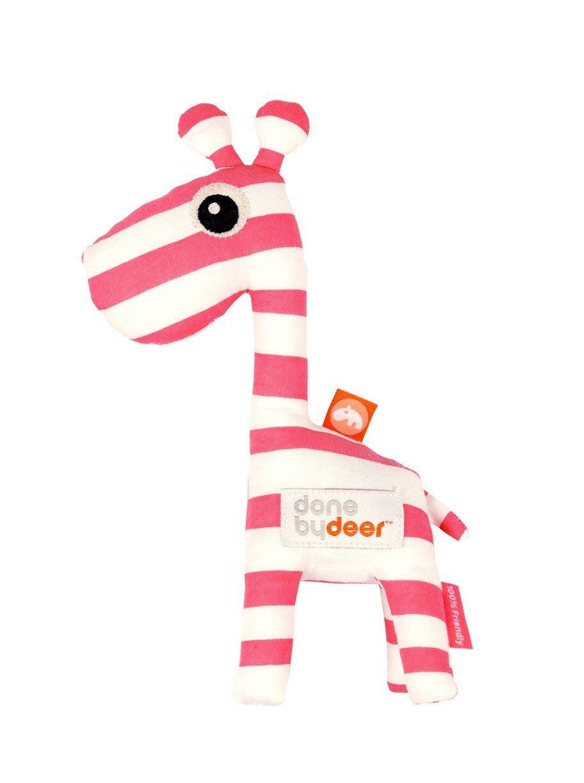 Погремушка Done by deer жираф красная