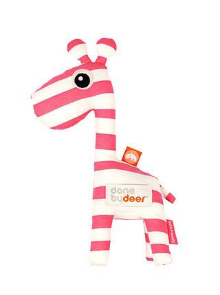 Погремушка Done by deer жираф красная, фото 2