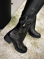 Стильные зимние женские ботинки . Натуральная кожа