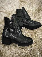 Стильные женские , зимние ботинки . Натуральная кожа