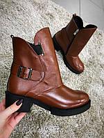 Стильные женские ботинки.Натуральная кожа. внутри мех