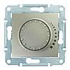 Светорегулятор емкостной поворотно-нажимной 25-325 Вт/ВА Sedna (Шнейдер Электрик Седна) Титан