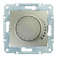 Светорегулятор емкостной поворотно-нажимной 25-325 Вт/ВА Sedna (Шнейдер Электрик Седна) Титан, фото 1