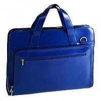 Синяя кожаная сумка для ноутбука 15.4 дюймов  Sumdex арт. SLN-062NV