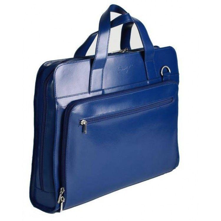 954d52bc9b5e Синяя кожаная сумка для ноутбука 15.4 дюймов Sumdex арт. SLN-062NV, фото 2  ...