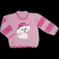 """Детский свитер с аппликацией """"пёсик"""", акрил, Турция, ТМ Ромашка, р. 104"""