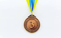Медаль спортивная с лентой START d-5см C-4333-3