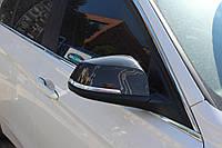 BMW X1 E-84 2009-2015 гг. Накладки на зеркала (2 шт, натуральный карбон)