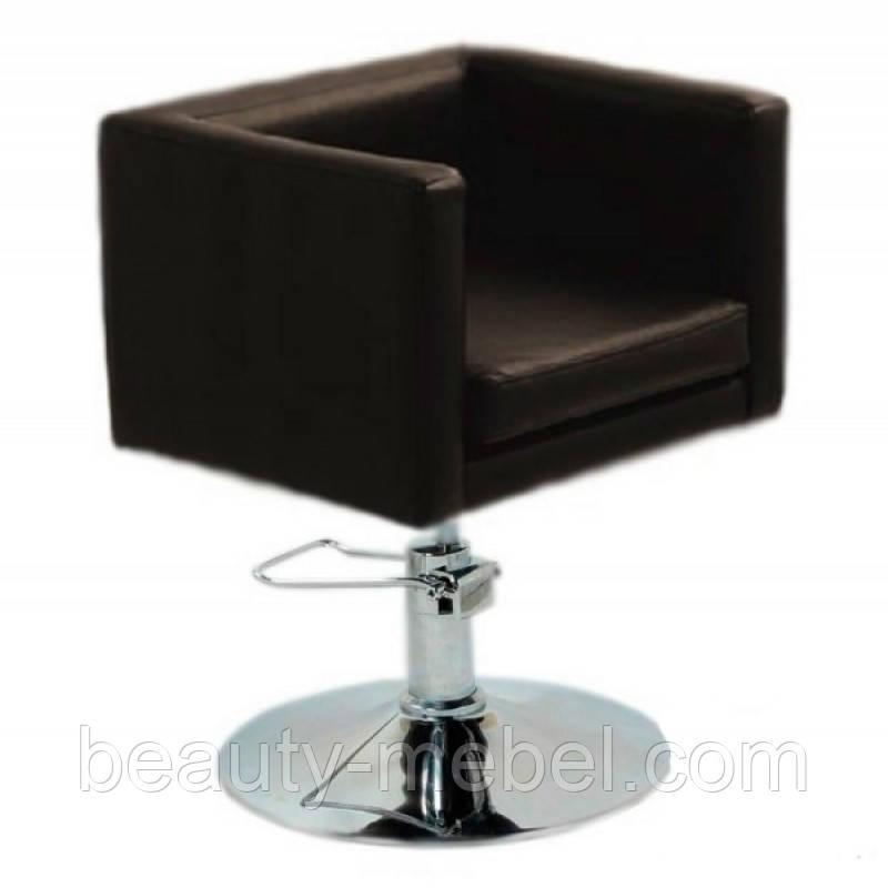 Кресло парикмахерское Марс P, кожзам, цвет черный