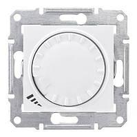 Светорегулятор емкостной поворотно-нажимной  40-1000 Вт/ВА Sedna Белый (Шнейдер Электрик Седна), фото 1