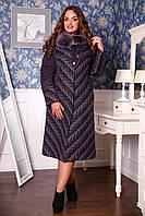 Пальто шерстяное женское зимнее больших размеров 686 Пальто женские зимние батал