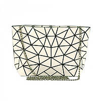 Сумка с белым геометрическим декором  Traum арт. 7241-28