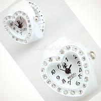 Женское кольцо часы модное стильное ретро винтаж серебро