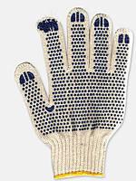 Перчатки белые с ПВХ точкой 547
