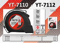 Рулетка L-3м., W-16мм., магнитный наконечник, нейлоновое покрытие, YATO  YT-7110