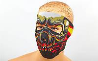 Маска лицевая ветрозащитная Red Evil Skull неопрен MS-4344-3