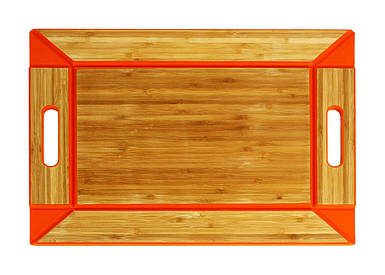 Лоток двусторонняя бамбуковая Free Form оранжевый