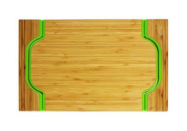 Лоток бамбуковая Free Form зеленая
