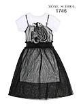 Платье-туника с черным платьем р-ры 146, фото 6
