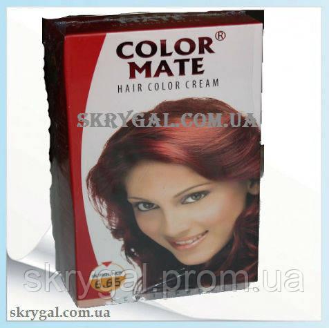 Индийская крем-краска для волос. Бургунд. Алоэ вера,С,Е.