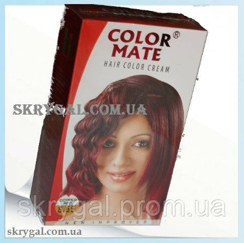 Индийская крем-краска для волос.Медно-красный. Алоэ вера,С,Е.
