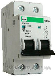 Автоматический выключатель АВ20002РC 10A6кА