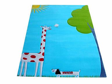 Ковер Жираф Soft Play 134 х 180 см бирюзовый