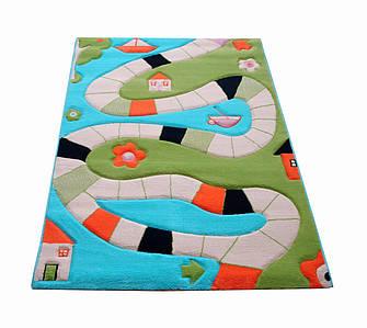 Ковер Soft Play Доска для Игры 134 х 180 см бирюзовый