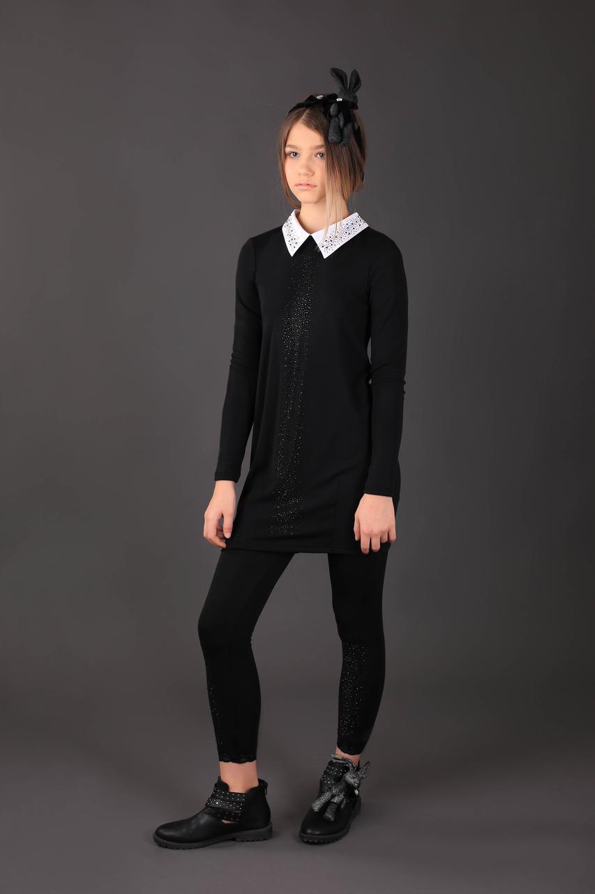 Красивая школьная форма, черное школьное платье МОНЕ р-р 122,128,134,140,146,152,158,164