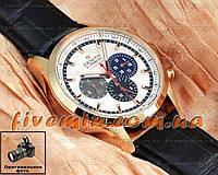 Мужские наручные часы Zenith El Primero Striking 10th Gold White Зенит механика с автоподзаводом