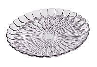 Тарелка декоративная Jelly сверкающее серебро