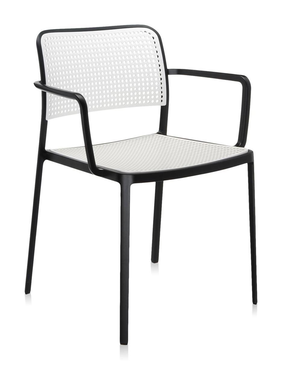 Стул Audrey с подлокотниками черный каркас черный сиденье