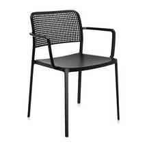 Стул Audrey с подлокотниками черный каркас черный сиденье, фото 2