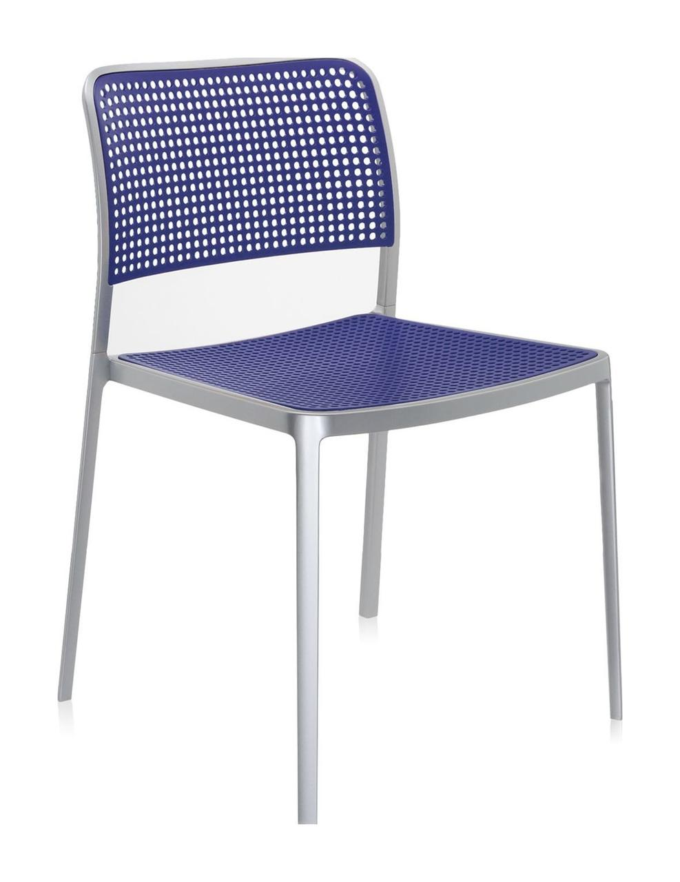 Стул Одри алюминиевая рама синяя сиденье