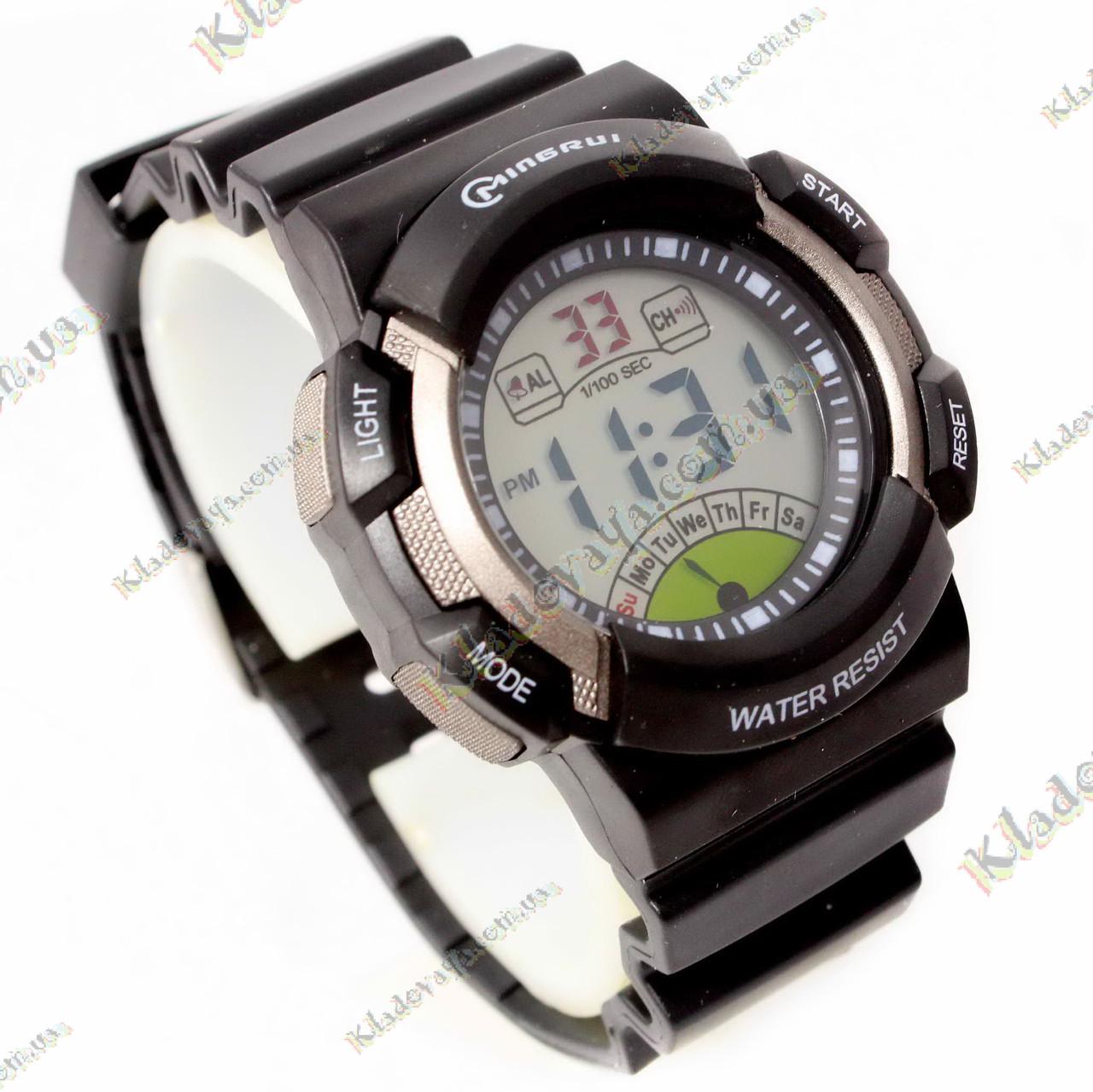 Электронные Водонепроницаемые часы Mingrui NEW black, 3 атм, фото 1