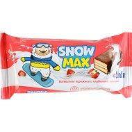 Бисквитное пирожное «Snow Max» с «клубничной» начинкой декорированное 40г