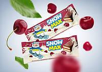 """Бисквитное пирожное """"Snow Max"""" с вишневой начинкой глазированное"""