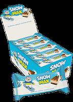"""Бисквитное пирожное """"Snow Max""""с молочной начинкой частично глазированное и декорированное"""
