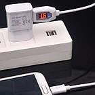 Кабель micro USB с тестером напряжения и силы тока. USB тестер вольтметр, амперметр, фото 3