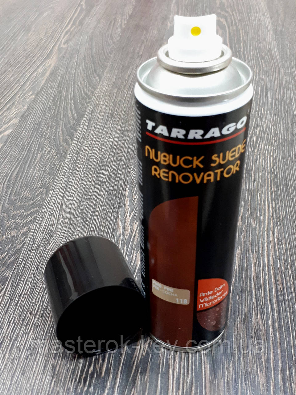 Відновлююча спрей-фарба Tarrago Nubuck Suede Renovator 250 мл колір жовта сосна (118)